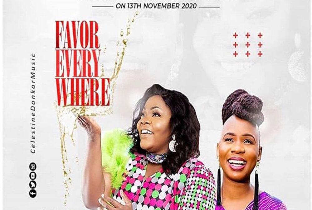 Favour Everywhere – Celestine Donkor ft Evelyn Wanjiru